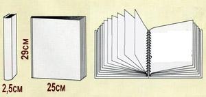 Размеры и схема магнитных альбомов с листами 23х28см